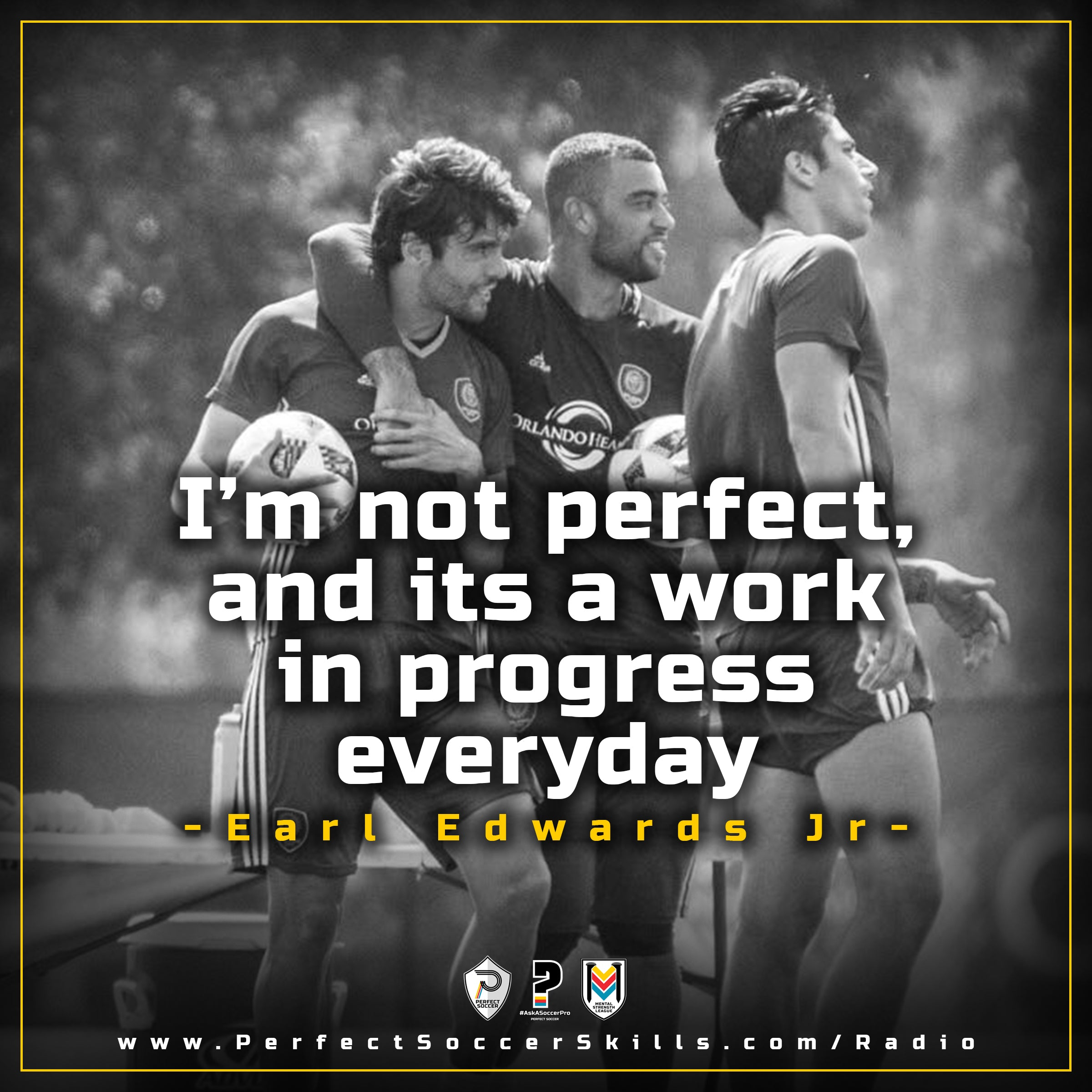 "Earl Edwards Jr. ""I'm Not Perfect, and its a work in progress everyday"" with Kaka"