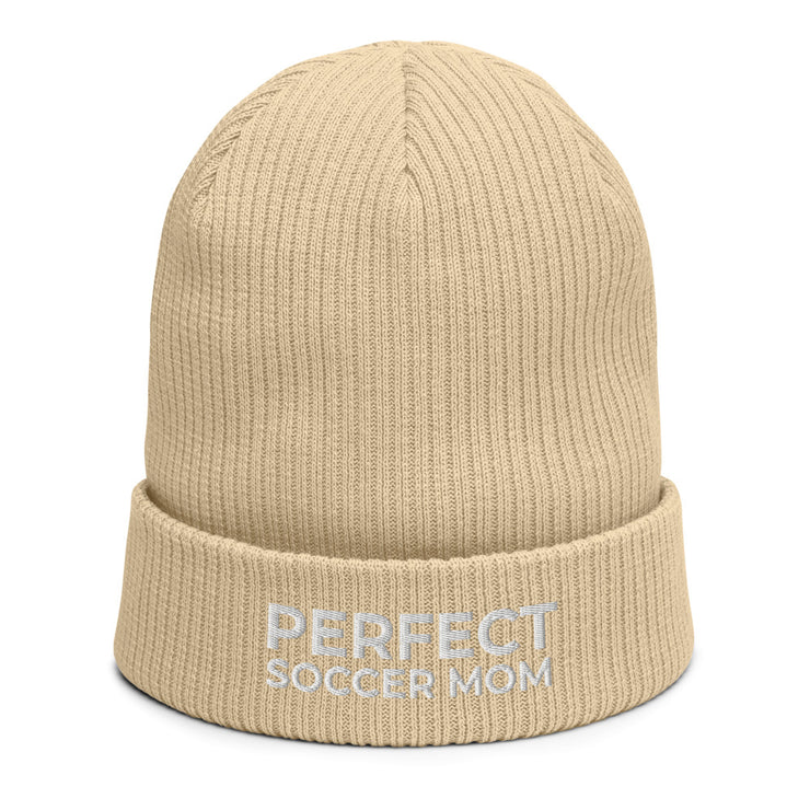 Perfect Soccer Mom | Organic ribbed beanie