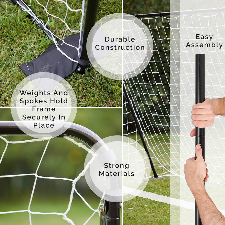 . Perfect Soccer Goal & Rebounder 2-in-1