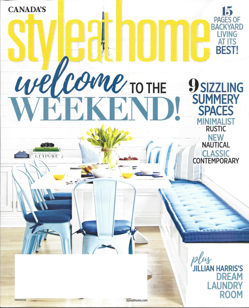 Style at Home July 2018 Issue featuring Tonic Living