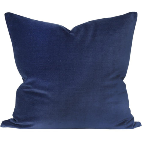 Velvet, Indigo pillow by Tonic Living