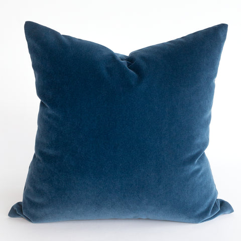 Blue velvet pillow from Tonic Living