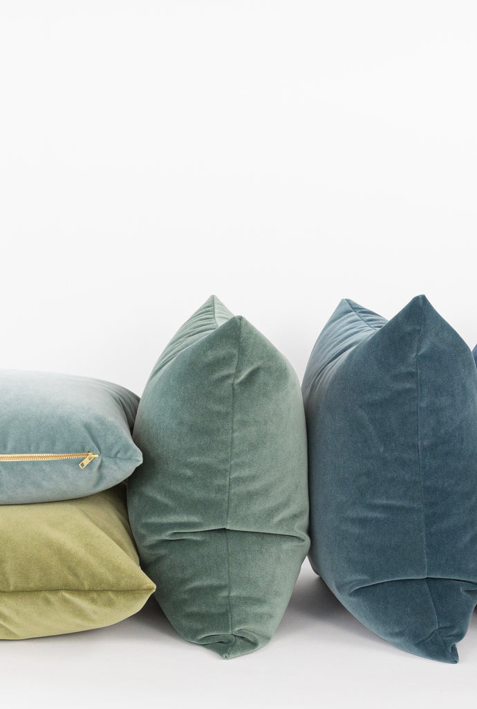 New velvet pillows from Tonic Living