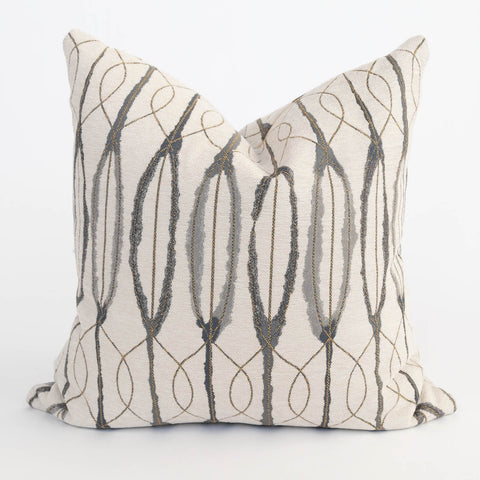 Vitali charcoal cream patterned pillow from Tonic Living