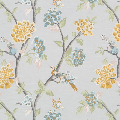 Helene Floral, French Grey