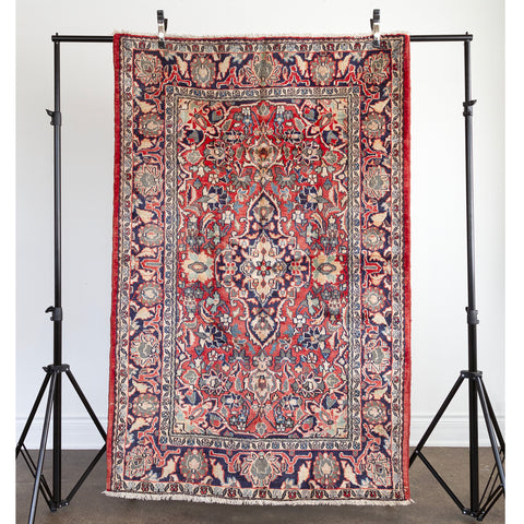 Abbie Vintage Rug, a burgundy patterned Persian rug from Tonic Living