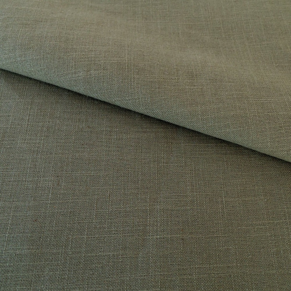 Adelaide Fabric, Moss, a green, linen blend fabric from Tonic Living