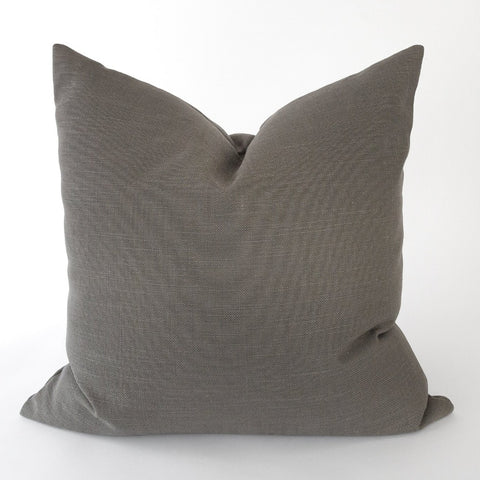 Adelaide Pillow, Graphite a linen blend charcoal gray pillow from Tonic Living