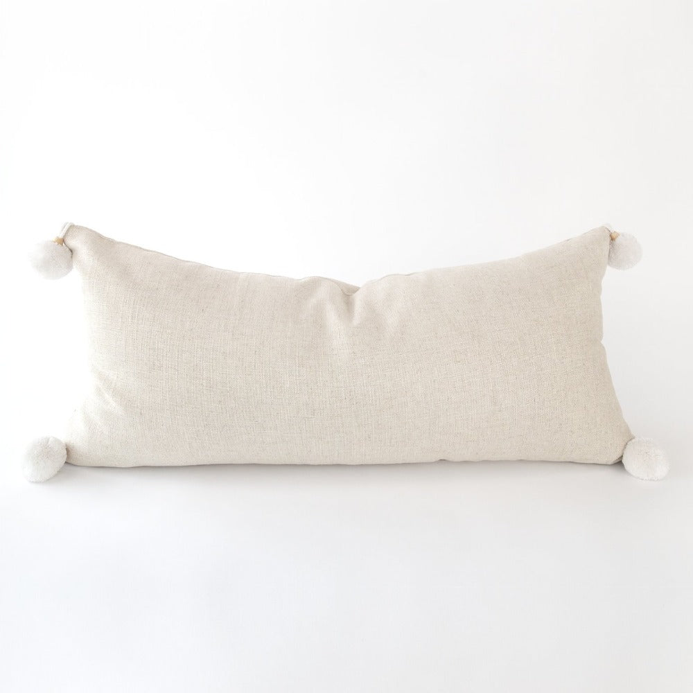 adelaide extra long lumbar pillow, sand from Tonic Living