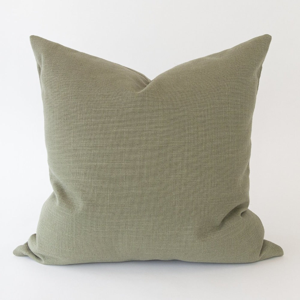 Adelaide Pillow, Moss, a linen blend green pillow from Tonic Living