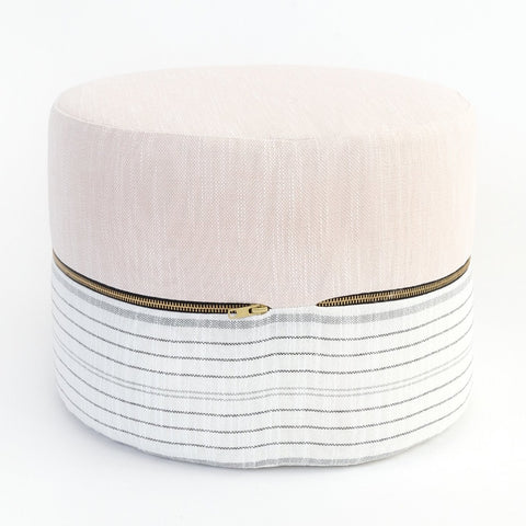 Amelia Mini Round Stool at Tonic Living Rollo fabric