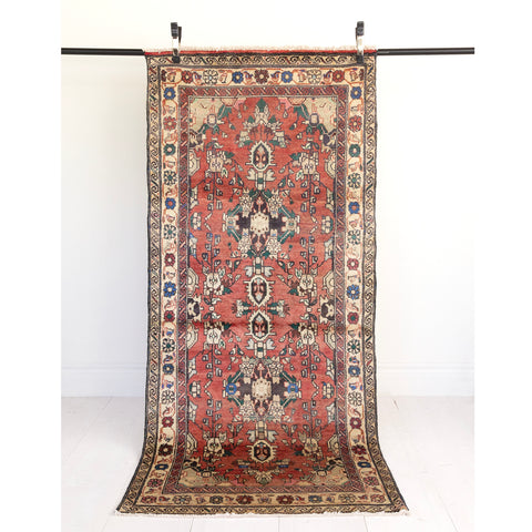 Amini, dusted coral vintage rug from Tonic Living