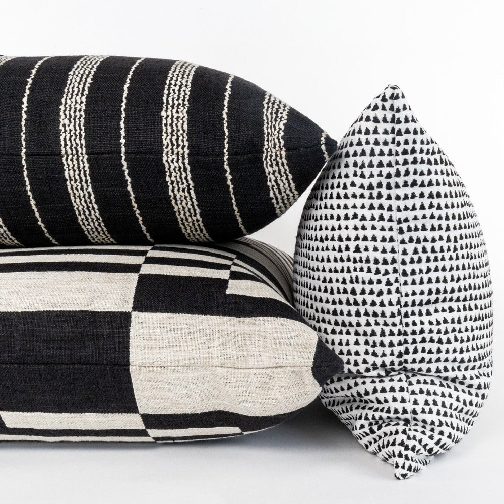 Black and white graphic pillows from Tonic Living