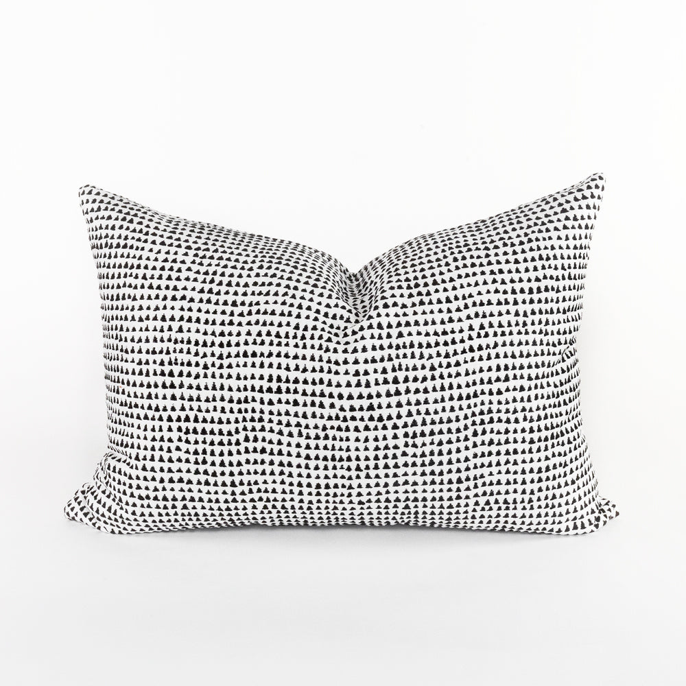 Archer black and white lumbar pillow from Tonic Living