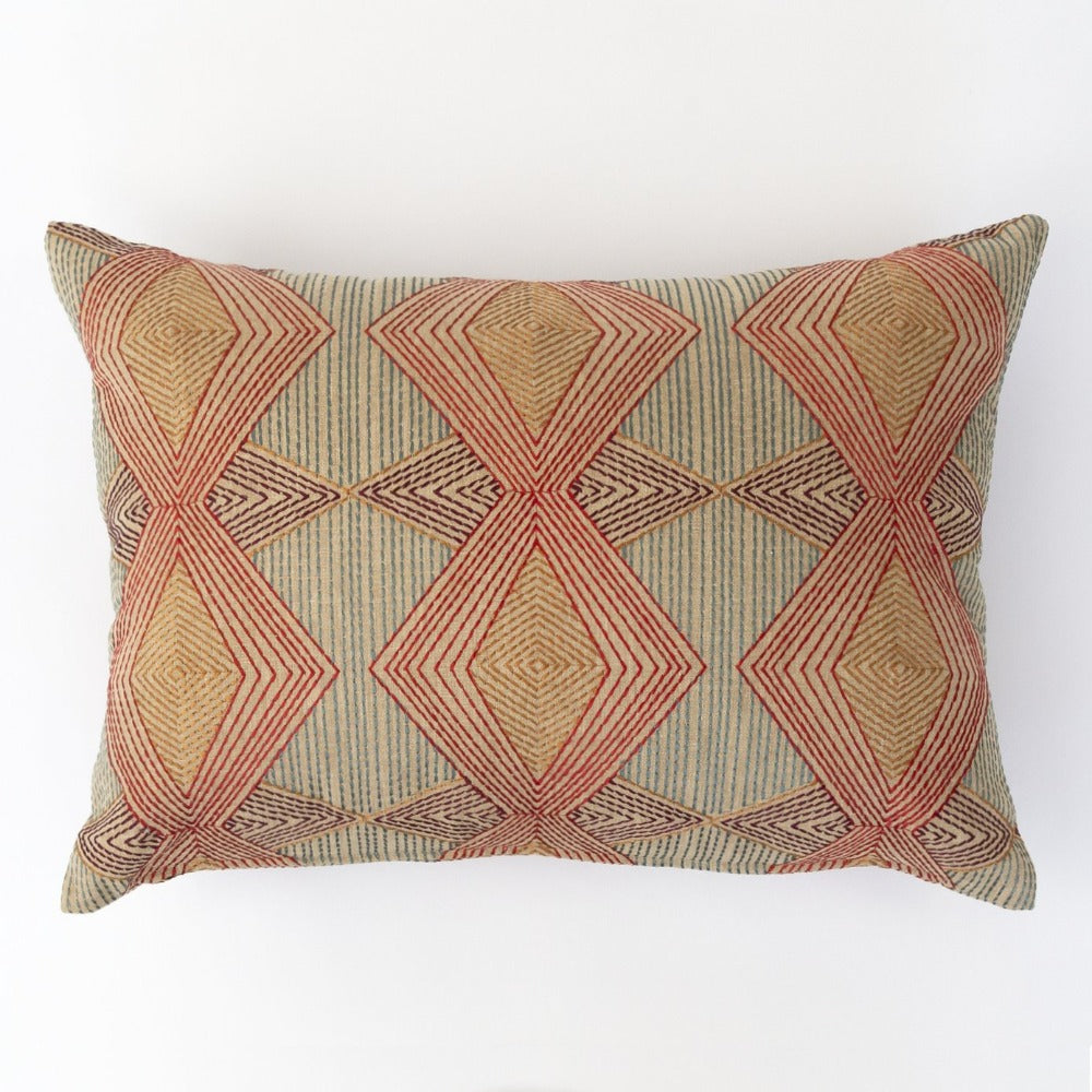 Astoria, Magic Hour Art Deco multicolored pillow from Tonic Living