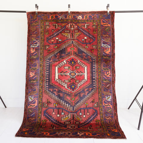 Atal, dark red vintage rug from Tonic Living