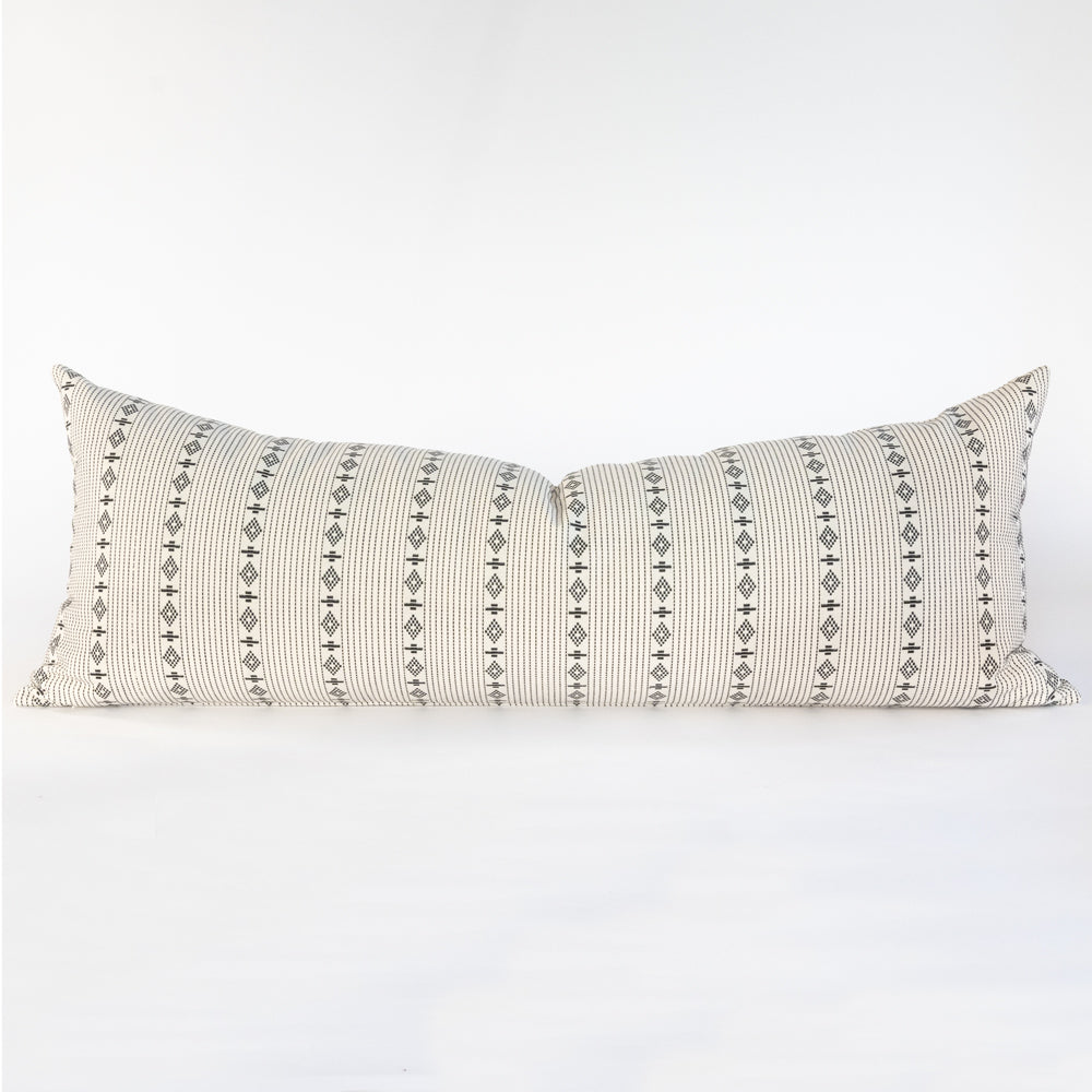 audrey onyx bed bolster in black and cream by Tonic Living