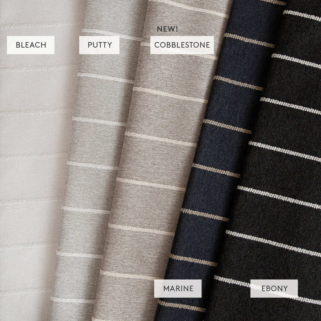 Avalon stripe High-performance fabric line from Tonic Living