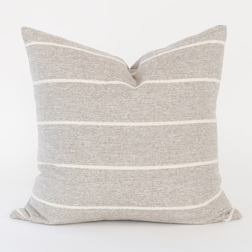 Avalon Stripe 20x20 Pillow, Cobblestone