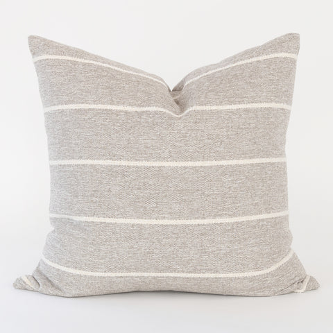 Avalon Stripe Pillow, Cobblestone