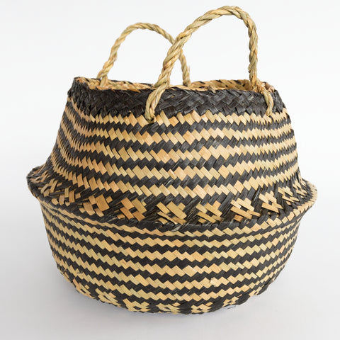 Bala black and natural belly basket from Tonic Living