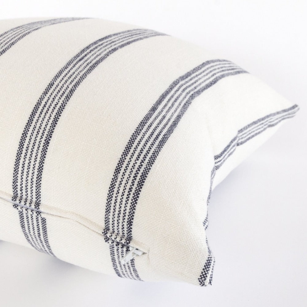 Bridgewater navy stripe pillow from Tonic Living