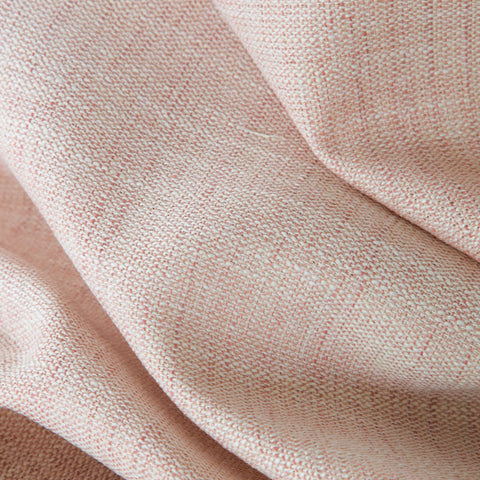 Calder, Rosewater - A soft, rose petal pink + cream upholstery fabric with a great woven texture - Tonic Living