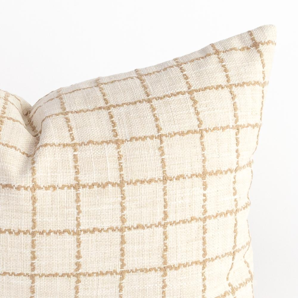 Campobello cream and beige check pillow from Tonic Living
