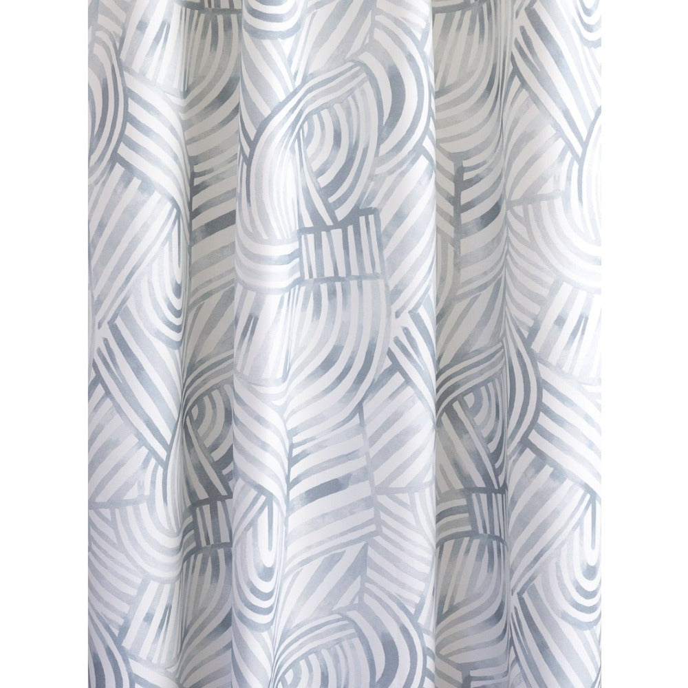 Capri Fabric, Mist, a blue painterly swirl pattern from Tonic Living