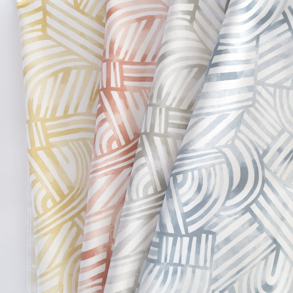 Capri Fabric, a painterly swirl pattern from Tonic Living