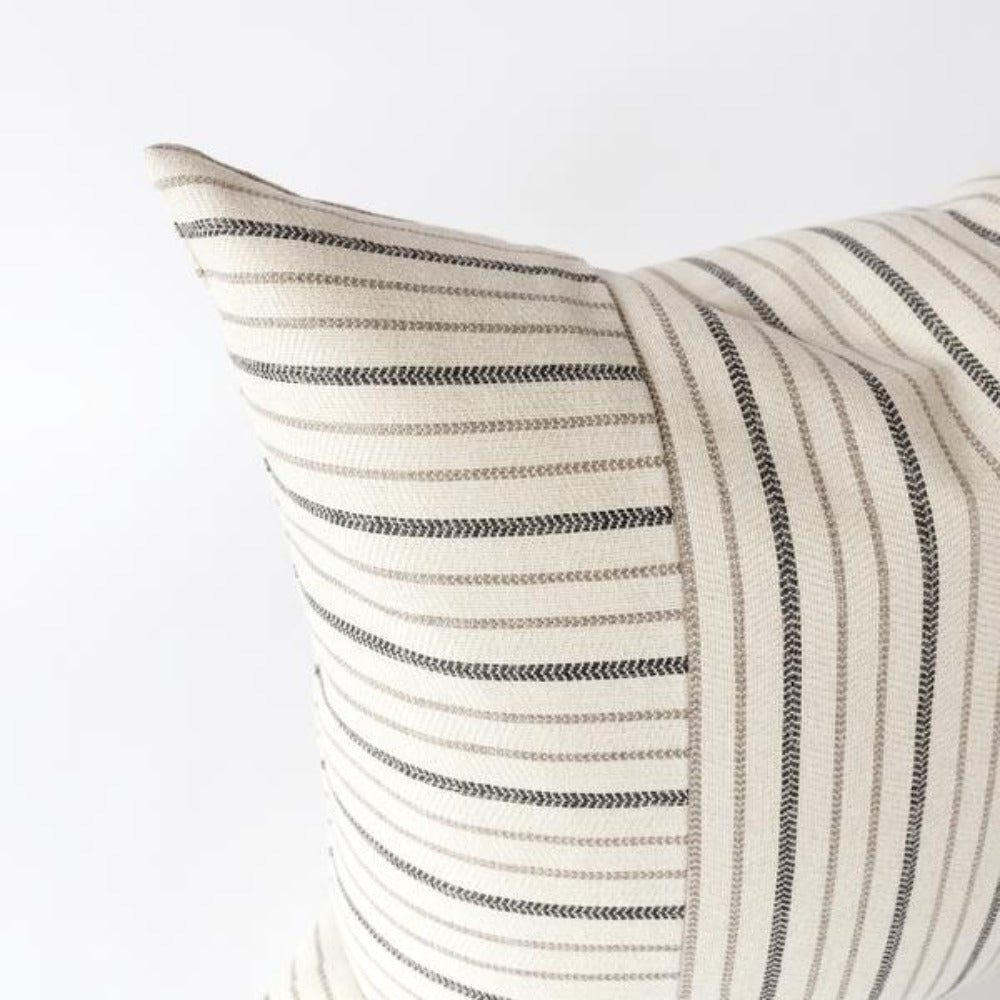 Carson railroad stripe high performance pillow from Tonic Living