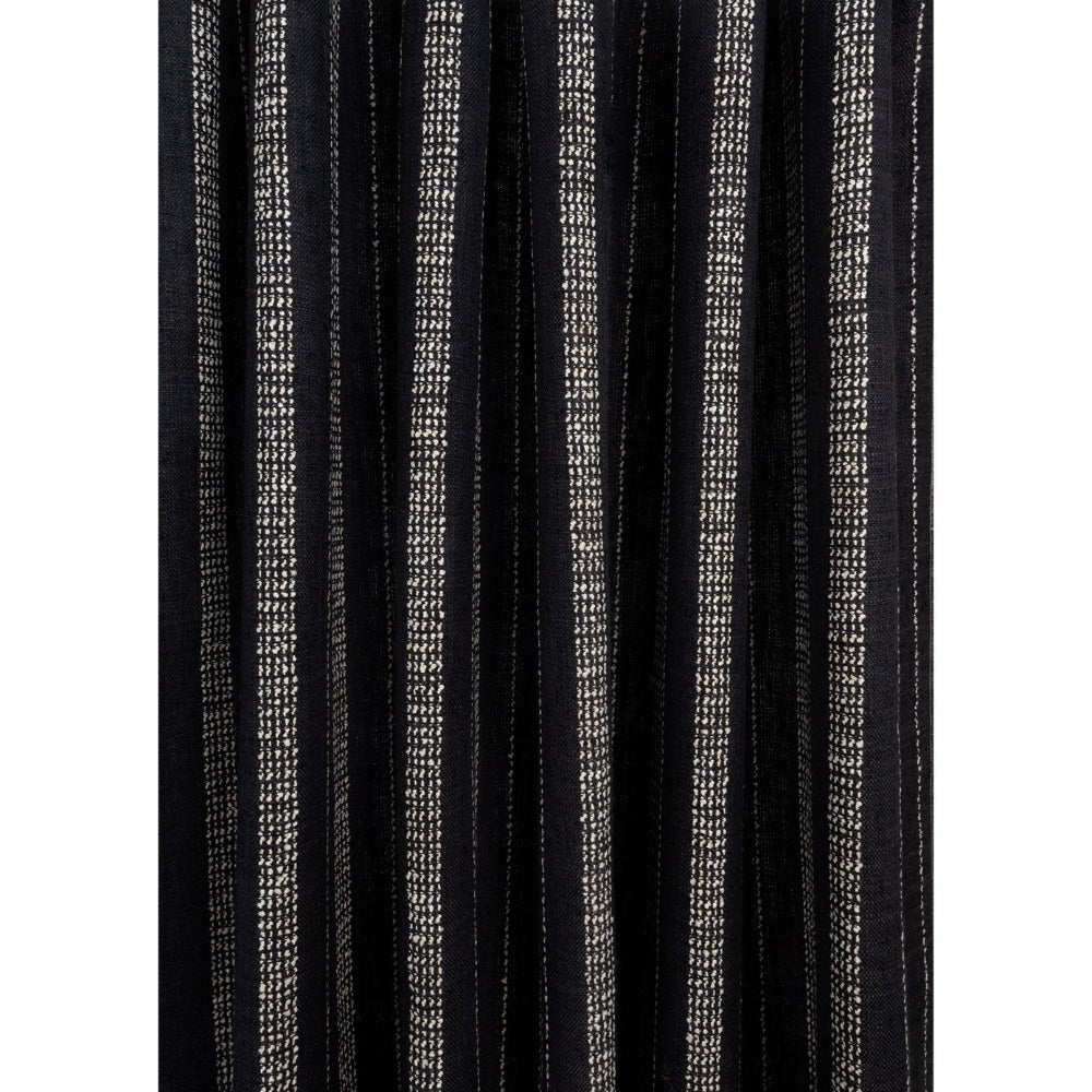 Cluny Fabric: durable black and white stripe upholstery fabric from Tonic Living