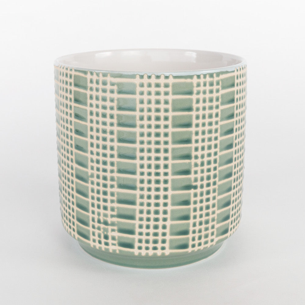 Dotti, a patterned glazed pot from Tonic Living