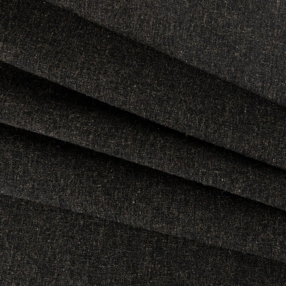 Darcy, Sable fabric: A dark charcoal gray wooly fabric from Tonic Living