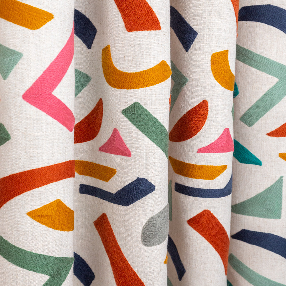 Delano terrazzo inspired embroidered fabric from Tonic Living