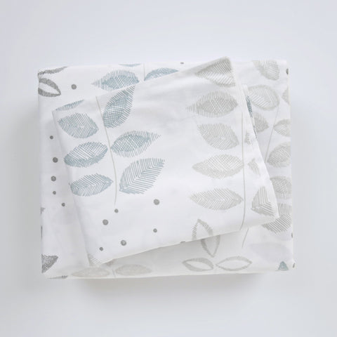 Duvet Cover Set - Etched Leaf Birch - tonic-living-usd