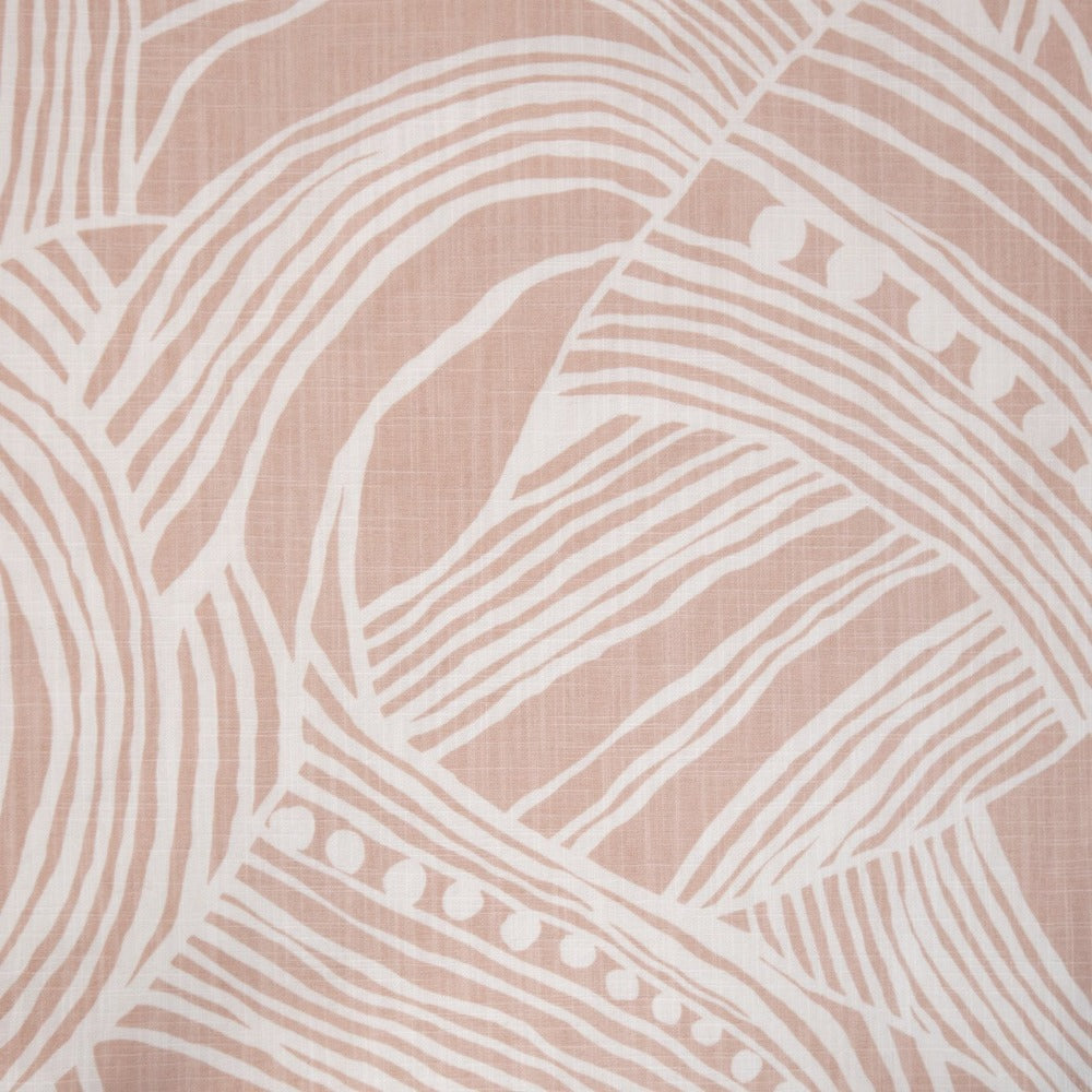 Euclid, Woodrose block print cotton fabric from Tonic Living