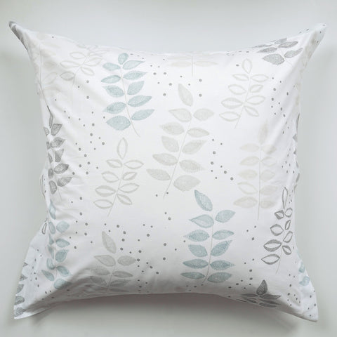 Euro Sham - Etched Leaf Birch - tonic-living-usd
