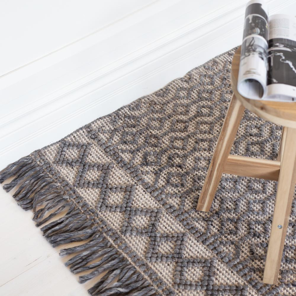 Eyre gray and taupe wool rug from Tonic Living