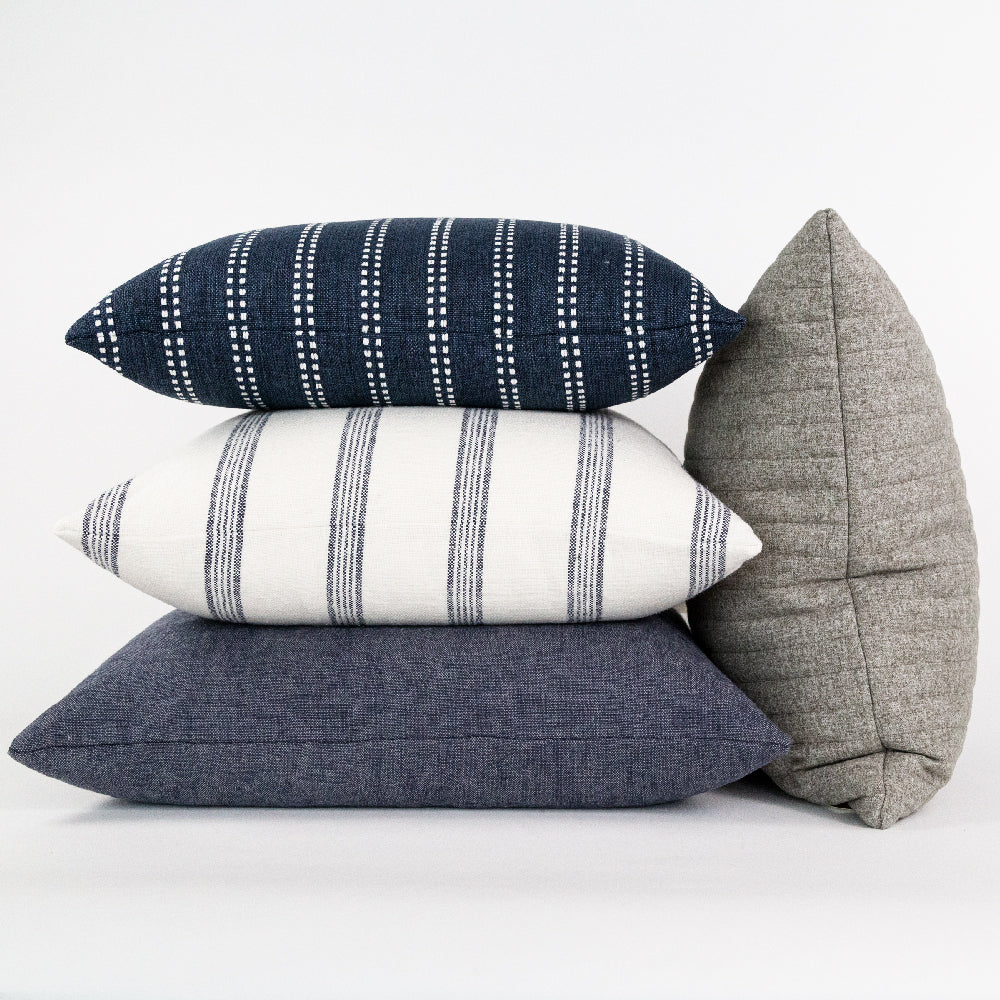 Cleary 22x22 Pillow, Indigo