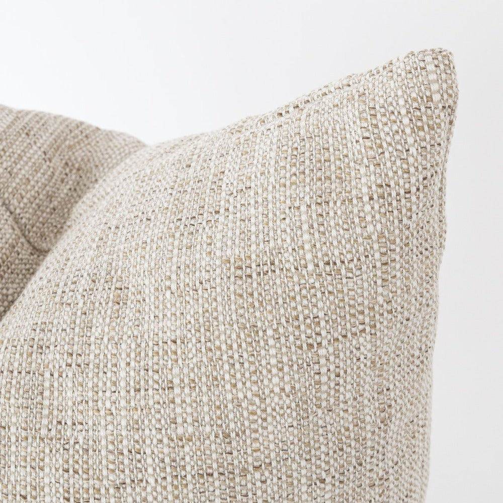 Felix Sisal, a textured beige indoor outdoor pillow from Tonic Living