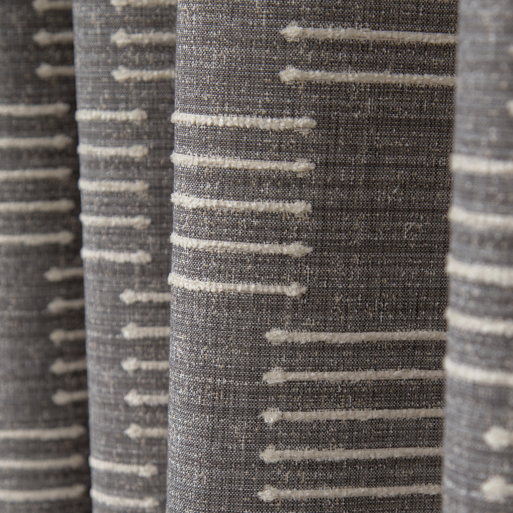 Harlow Graphite Grey, a grey and cream graphic upholstery fabric from Tonic Living