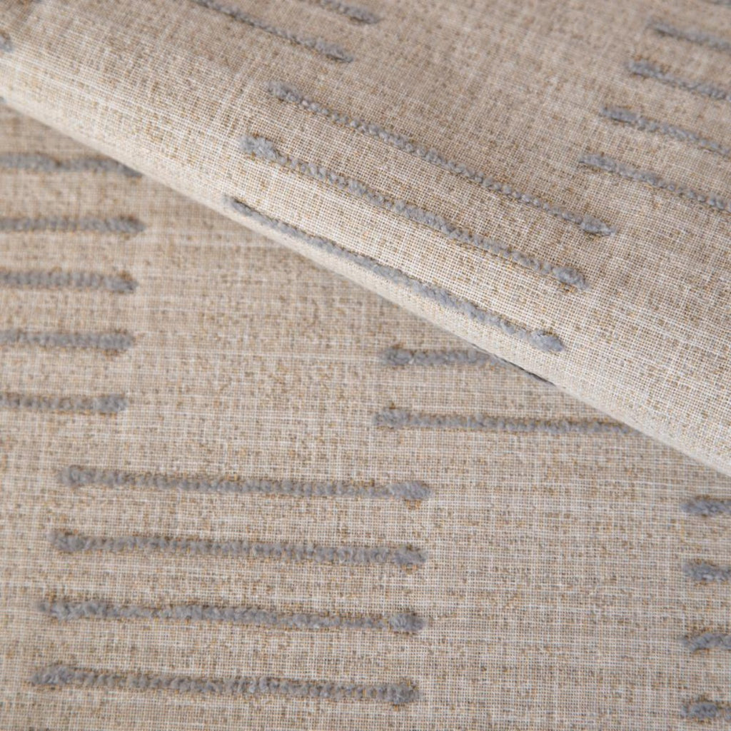 Harlow Desert Sand, a beige and gray graphic upholstery fabric from Tonic Living