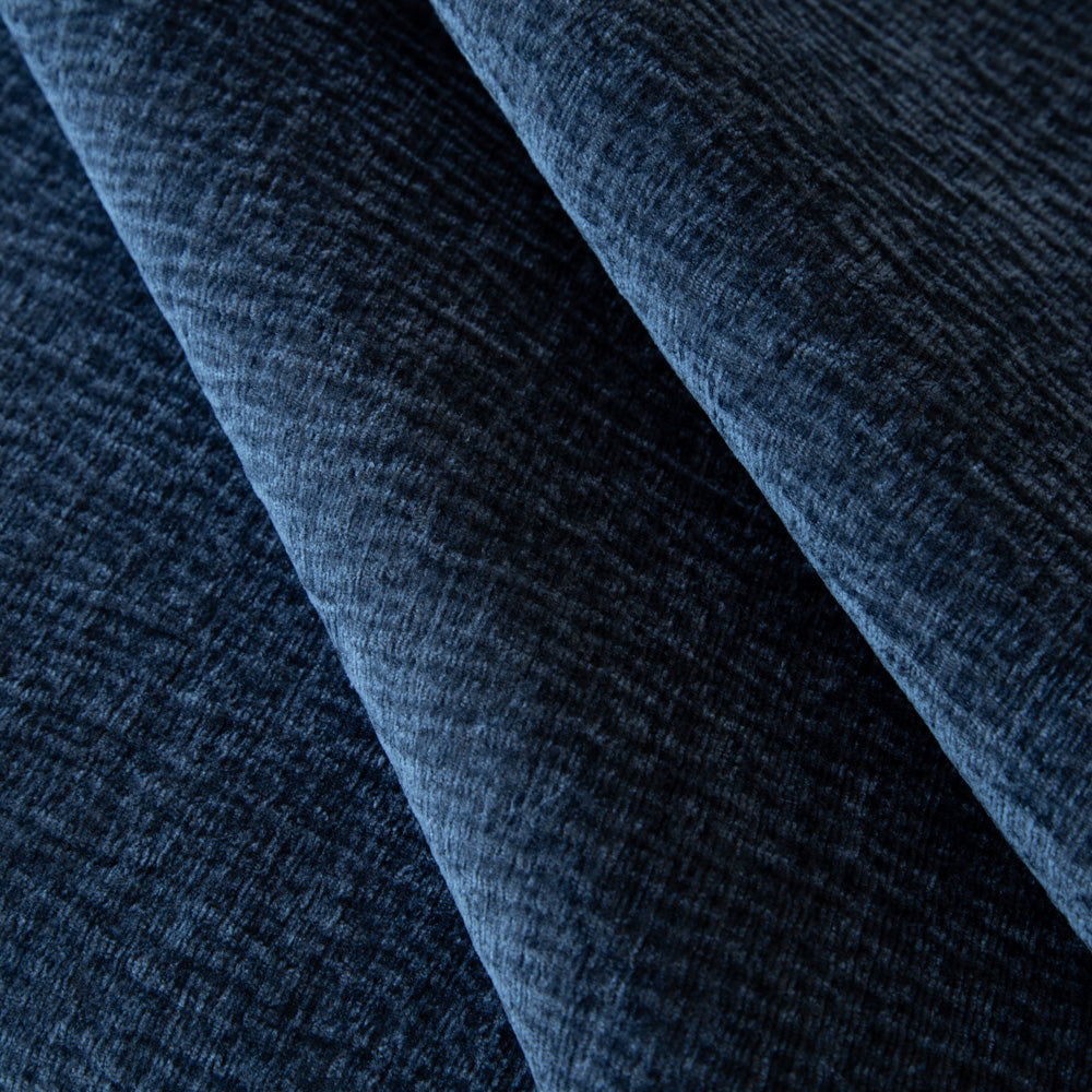 "REMNANT 38"" Irving, Sapphire - A navy blue velvet fabric with a soft and subtle texture - Tonic Living"