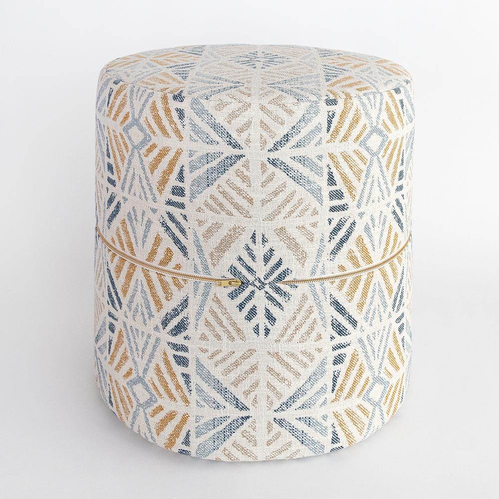 Isla round ottoman stool from Tonic Living