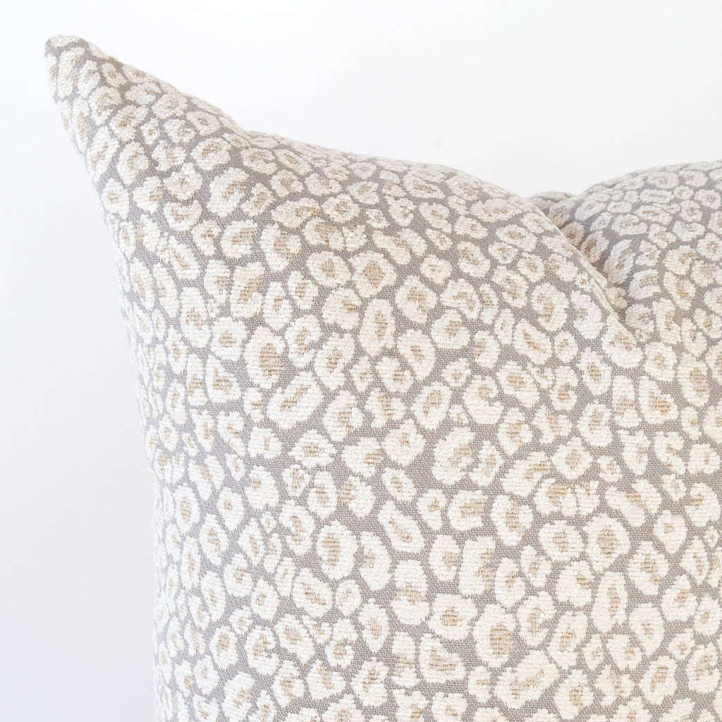 Jackie Pillow, Spots a taupe gray leopard pillow from Tonic Living