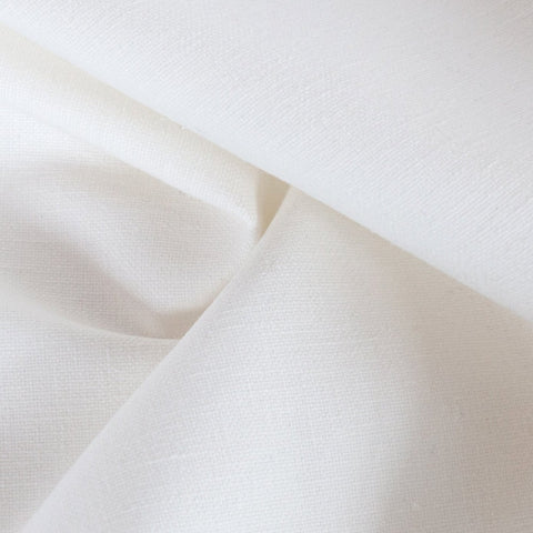 Jameson cloud white ivory drapery fabric from Tonic Living