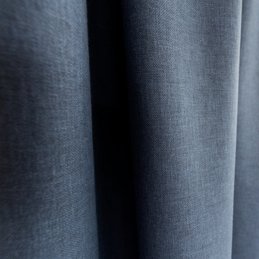 Jameson navy blue indigo drapery fabric from Tonic Living