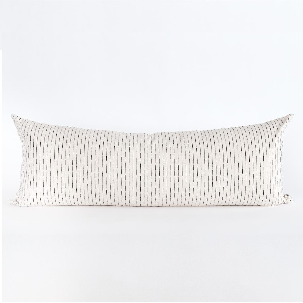 Judy black and white stripe bolster pillow from Tonic Living