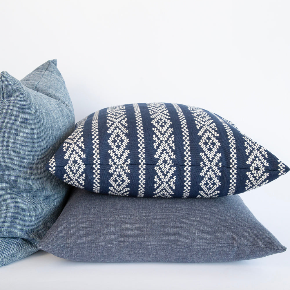 Kira 22x22 Pillow, Indigo